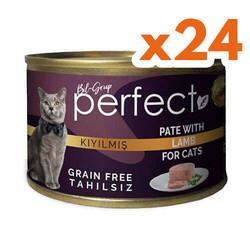Perfect - Perfect Lamb Pate Kıyılmış Kuzu Etli Tahılsız Kedi Konservesi 80 Gr x 24 Adet