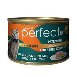 Perfect - Perfect Sterilised Pate Kıyılmış Salmon Kısırlaştırılmış Tahılsız Kedi Konservesi 80 Gr