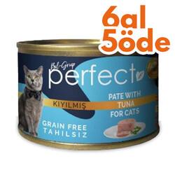 Perfect - Perfect Tuna Pate Kıyılmış Ton Balıklı Tahılsız Kedi Konservesi 80 Gr - 6 Al 5 Öde