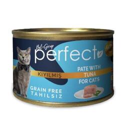 Perfect - Perfect Tuna Pate Kıyılmış Ton Balıklı Tahılsız Kedi Konservesi 80 Gr