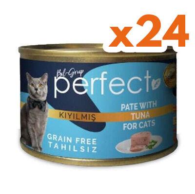 Perfect Tuna Pate Kıyılmış Ton Balıklı Tahılsız Kedi Konservesi 80 Gr x 24 Adet