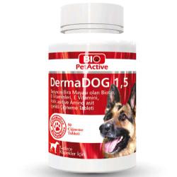 Bio Pet Active - Bio Pet Active Dermadog 1,5 Çinko Sarımsaklı Mayası Tableti 75 Gr-(50 Tab)