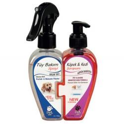 Pet Love - Pet Love Kedi ve Köpek Tüy Bakım Spreyi ve Şampuan 2li Özel Set