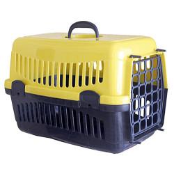 Diğer / Other - Pet Master Kedi ve Köpek Plastik Taşıma Kafesi Sarı (50x32x31 Cm)
