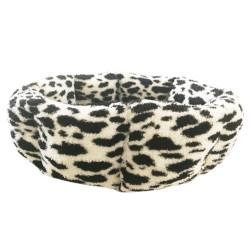 Pet Pretty - Pet Pretty Benekli Simit Peluş Kedi ve Küçük Irk Yatak 50 Cm
