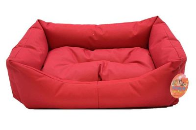 Pet Pretty Dış Mekan Kolay Temizlenen Kedi ve Köpek Yatağı No: 3 Kırmızı
