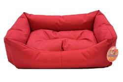 Pet Pretty - Pet Pretty Dış Mekan Kolay Temizlenen Kedi ve Köpek Yatağı No:3 Kırmızı