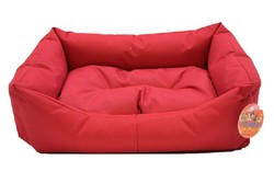Pet Pretty - Pet Pretty Dış Mekan Kolay Temizlenen Kedi ve Köpek Yatağı No:4 Kırmızı