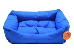 Pet Pretty - Pet Pretty Dış Mekan Kolay Temizlenen Kedi ve Köpek Yatağı No:3 Mavi