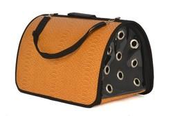Pet Pretty - Pet Pretty Skinned Flybag Kedi ve Köpek Taşıma Çantası 28x44x28 Cm Hardal