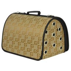 Pet Pretty - Pet Pretty Flybag Kedi ve Köpek Taşıma Çantası 25x40x25 Cm (Açık Kahve)