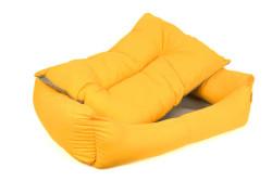 Pet Pretty İç Mekan Kolay Temizlenen Kedi ve Köpek Yatağı No: 4 Sarı - Thumbnail