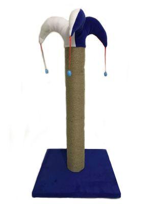 Pet Pretty Kare Taban Kalın Soytarı Kedi Tırmalama Platformu 70 Cm Mavi