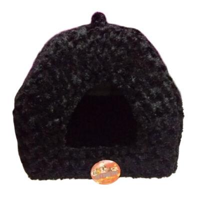 Pet Pretty Kedi ve Küçük Irk Köpek Peluş Piramit Yuva Yatak Siyah ( En: 43, Boy: 43, Yükseklik: 40 )