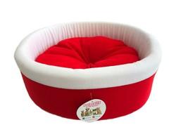 Pet Pretty - Pet Pretty Küçük Irk Köpek - Kedi Special Simit Yatak Kırmızı