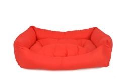Pet Pretty - Pet Pretty İç Mekan Kolay Temizlenen Kedi ve Köpek Yatağı No:3 Kırmızı