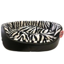 Pet Pretty - Pet Pretty Zebra Deri Kedi ve Küçük Irk Köpek Yatağı No:1