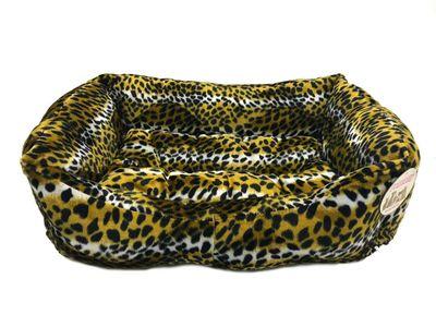 Pet Pretty Leopar Desenli Tay Tüyü Yatak No: 4 (80 x 65 x 20 Cm)