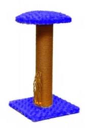 Pet Pretty - Pet Pretty Oturaklı Kare Taban Kedi Tırmalama Platformu Mavi 50 Cm