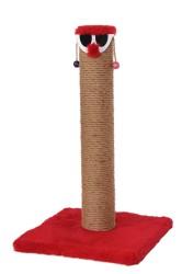 Pet Pretty - Pet Pretty Palyaço T5 Kare Taban Kedi Tırmalama Platformu 50 Cm Kırmızı