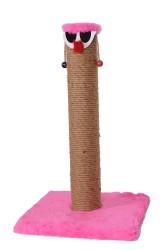 Pet Pretty - Pet Pretty Palyaço T5 Kare Taban Kedi Tırmalama Platformu 50 Cm Pembe