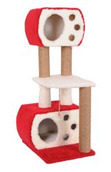 Pet Pretty - Pet Pretty S8 Çift Yuvalı ve Oturaklı Kedi Tırmalama 115x60x45 Cm Kırmızı