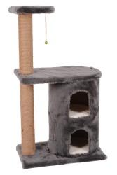 Pet Pretty - Pet Pretty S3 Çift Yuvalı ve Oturaklı Kedi Tırmalama 103 x 60 x 40 Cm Gri