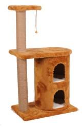 Pet Pretty - Pet Pretty S3 Çift Yuvalı ve Oturaklı Kedi Tırmalama 103 x 60 x 40 Cm Kahverengi