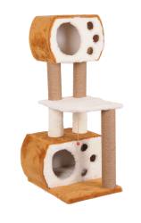 Pet Pretty - Pet Pretty S8 Çift Yuvalı ve Oturaklı Kedi Tırmalama 115x60x45 Cm Kahverengi