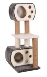 Pet Pretty - Pet Pretty S8 Çift Yuvalı ve Oturaklı Kedi Tırmalama 115 x 60 x 45 Cm Gri