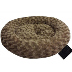 Pet Pretty - Pet Pretty Simit Küçük Irk Köpek ve Kedi Peluş Yatak 50x50 Cm (Kahverengi)