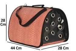 Pet Pretty - Pet Pretty Skinned Flybag Kedi ve Köpek Taşıma Çantası 28x44x28 Cm Gül Kurusu