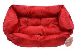 Pet Pretty - Pet Pretty Tay Tüyü Kolay Temizlenen Kedi ve Köpek Yatağı (Battal Boy) Kırmızı