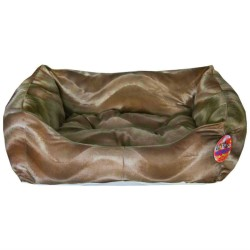 Pet Pretty - Pet Pretty Tay Tüyü Kolay Temizlenen Kedi ve Köpek Yatağı (Battal Boy) Kahverengi