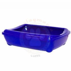 Pet Style - Pet Style Plastik Mavi Açık Kedi Tuvalet Kabı 48 Cm