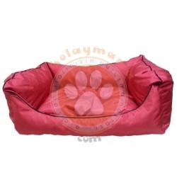 Pet Style - Pet Style Y0013-K Kolay Temizlenen Kedi ve Köpek Yatağı Kırmızı No:02