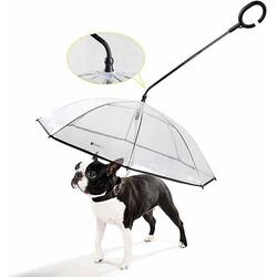 Diğer / Other - Pet Umbrella AMBR - 1 Hareketli Başlıklı Köpek Gezdirme Şemsiyesi 70 x 67 cm
