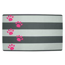 Petmate - Petmate 44905 Pink Paws Feeding & Watering Mat Mama ve Su Matı ( Çizgi Desenli )