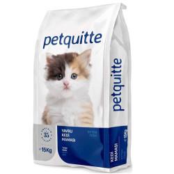 Petquitte - Petquitte Kitten Kuzu ve Balık Etli Yavru Kedi Maması 15 Kg