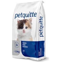 Petquitte - Petquitte Kitten Kuzu ve Balık Etli Yavru Kedi Maması 1,5 Kg