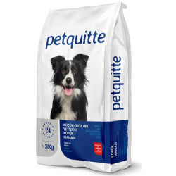Petquitte - Petquitte Mini&Medium Kuzu Etli Küçük ve Orta Irk Köpek Maması 3 Kg