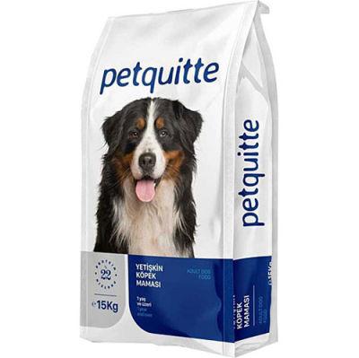 Petquitte Kuzu Etli ve Balıklı Yetişkin Köpek Maması 15 Kg