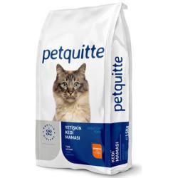 Petquitte - Petquitte Somon Balıklı Yetişkin Kedi Maması 15 Kg