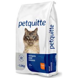 Petquitte - Petquitte Somon Balıklı Yetişkin Kedi Maması 1,5 Kg