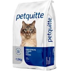 Petquitte - Petquitte Sterilised Kuzu ve Balık Etli Kısırlaştırılmış Kedi Maması 1,5 Kg
