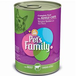 Pets Family - Pets Family Beef Dana Etli Kedi Konservesi 410 Gr