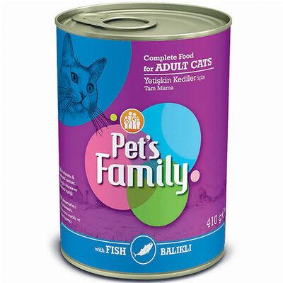Pets Family Fish Balık Etli Kedi Konservesi 410 Gr