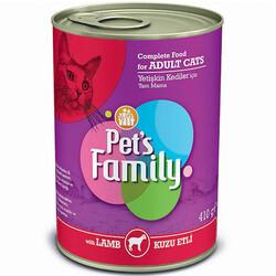 Pets Family - Pets Family Lamb Kuzu Etli Kedi Konservesi 410 Gr
