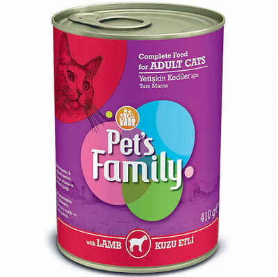Pets Family Lamb Kuzu Etli Kedi Konservesi 410 Gr
