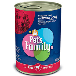 Pets Family - Pets Family Lamb Kuzu Etli Köpek Konservesi 410 Gr